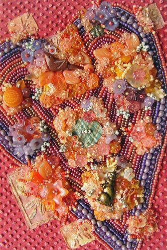 Цветочная вышивка бисером