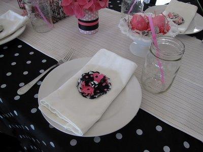 черно-розовый декор