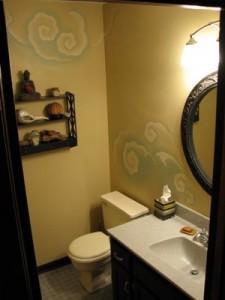 роспись своими руками в ванной