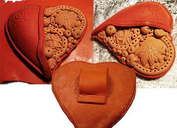 Как вылепить сердце из полимерной пластики