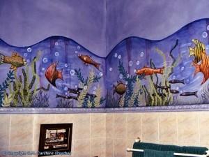 рыбы на стенах роспись своими руками