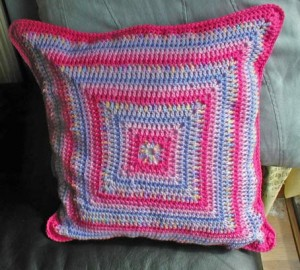 вязание крючком креативный хенд-мейд вязаная подушка