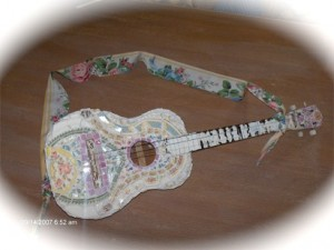 гитара hand-made мозаика