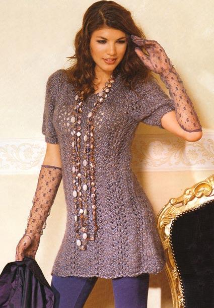 Вязаные платья с описанием