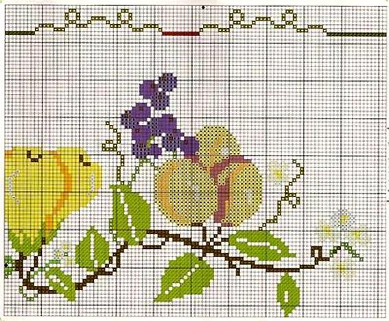 бесплатные схемы для вышивания абрикосы виноград