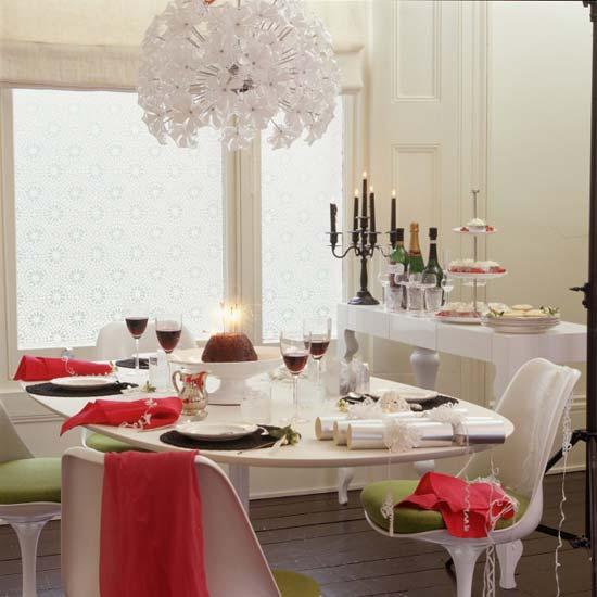 праздничное декорирование стола к новому году