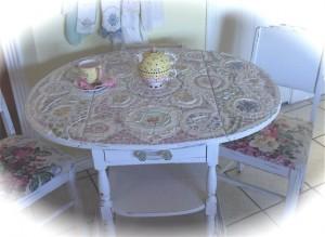 стол hand-made мозаика
