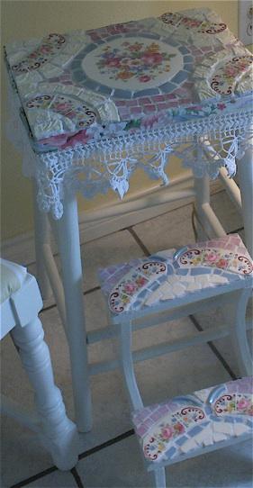 мебель hand-made мозаика