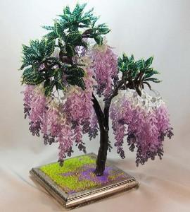 дерево из бисера глициния мастер-класс