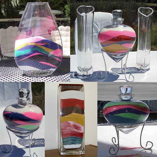 Как сделать картину из цветного песка