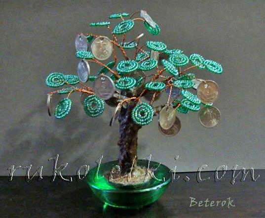 Бисероплетение денежное дерево для начинающих как подрезать денежное.