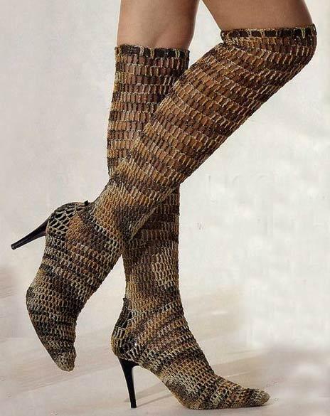 Модный тренд – вязаная обувь