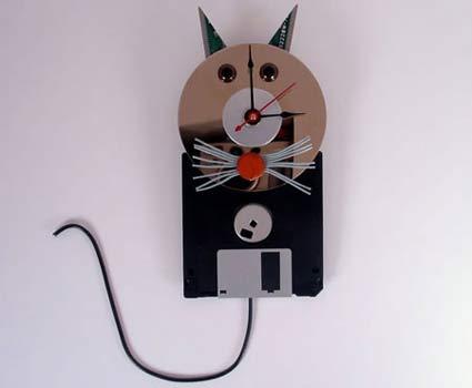 Кошачья тема в декоре жилья часы кот
