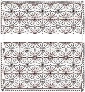 Схемы вязания крючком плед