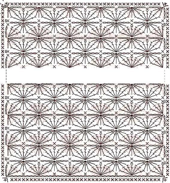 Схемы вязания пледа вязание крючком мотивы схемы для