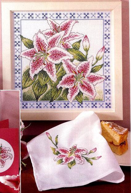Вышивка «Лилии»