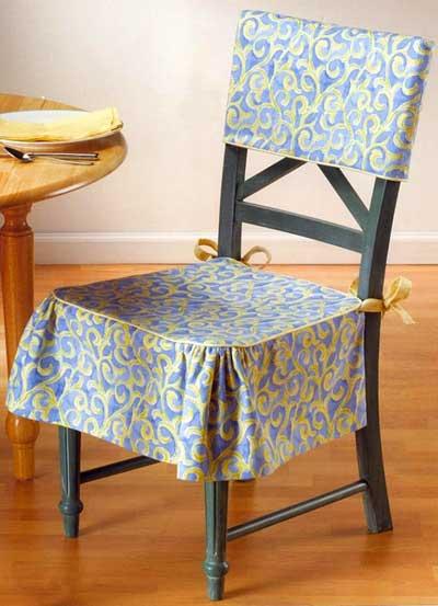 Чехлы на стулья фото своими руками