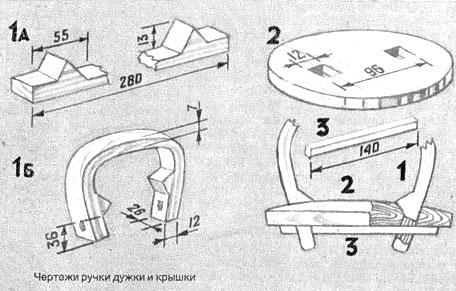 Изготовление ручки дужки для туеса из бересты