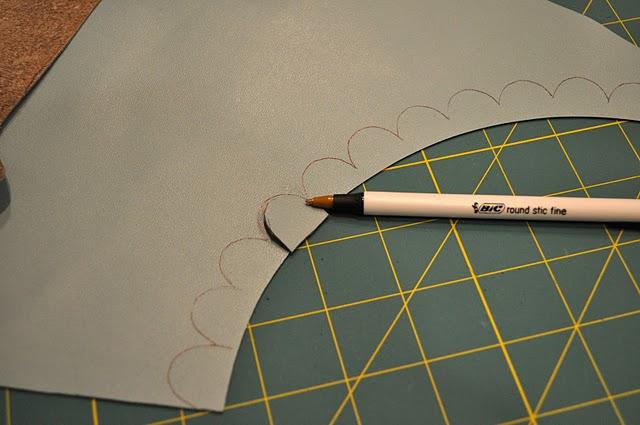 Внутренняя часть клатча. * Сделайте выкройку клатча.