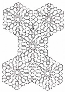 схема вязания мотивов крючком