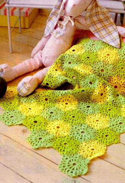 Вязание крючком – плед с