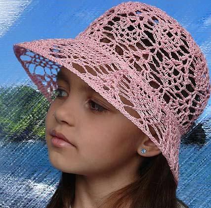 летнюю шляпку крючком.