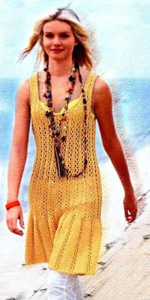 летнее платье спицами,