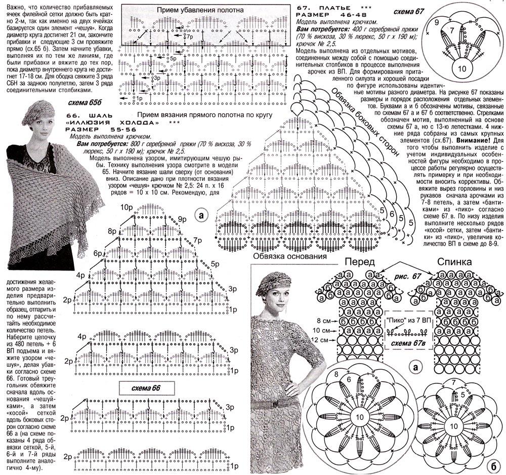 "Схема и мастер-класс, вязание шали ""чешуйками&quot"