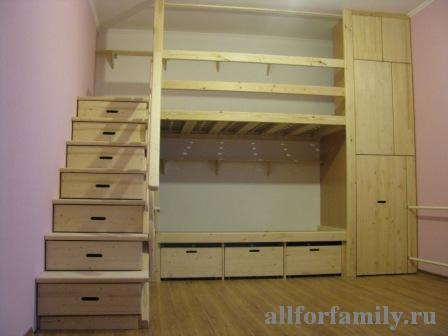 Детская двухэтажная кровать своими