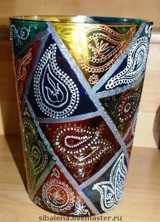 роспись точками ваза