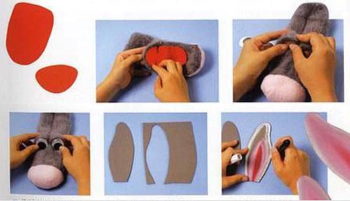 Кукла из носка на руку своими руками мастер класс