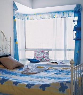Дизайн спальни в голубых тонах фото
