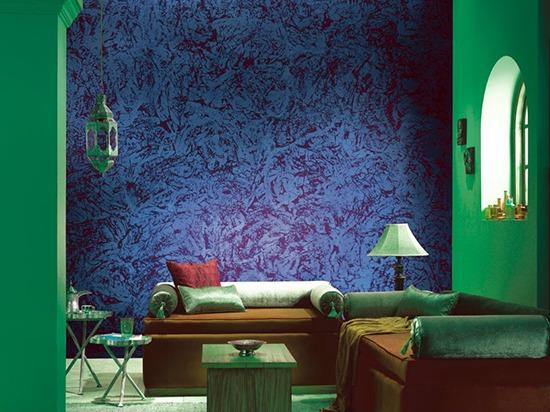 Идеи фактурной покраски стен