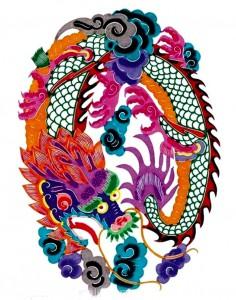 китайские рисунки дракон 1
