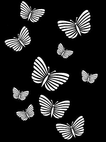 Трафарет группы бабочек
