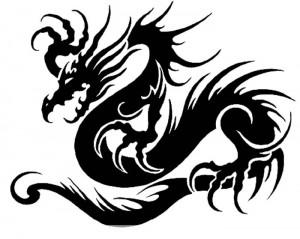 китайские рисунки дракон 4