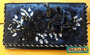 Клатч черная роза 1