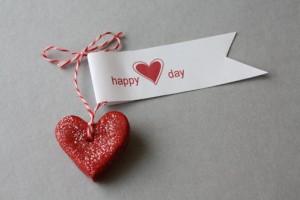 Сердечко валентинка из соленого теста