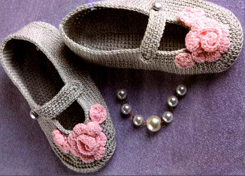 Вязание крючком – тапочки для