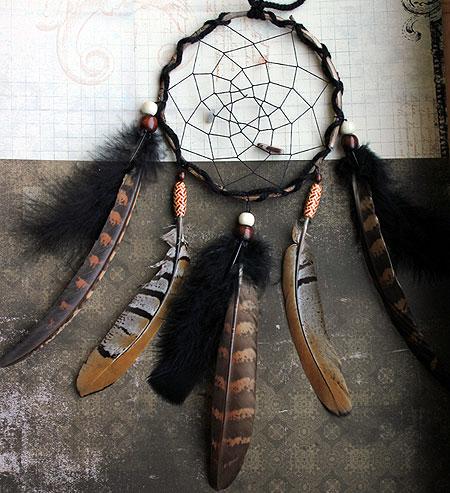 Ловец снов с большими перьями 17