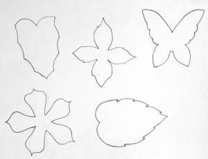 выкройки цветов и листьев