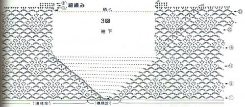 Схема вязания блузки крючком