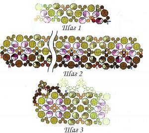 схема красивого браслета