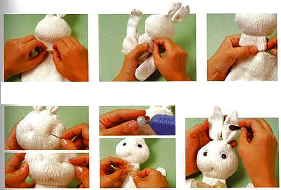 кукла из перчатки зайчик 2