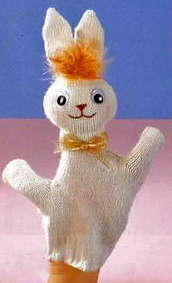 куклу из перчатки Зайчик