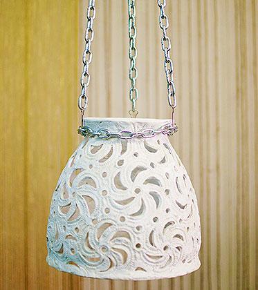 Подвесной светильник из полимерной глины 2