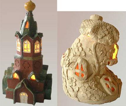 Светильники домики своими руками