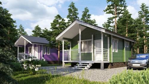маленький дом из бруса проект