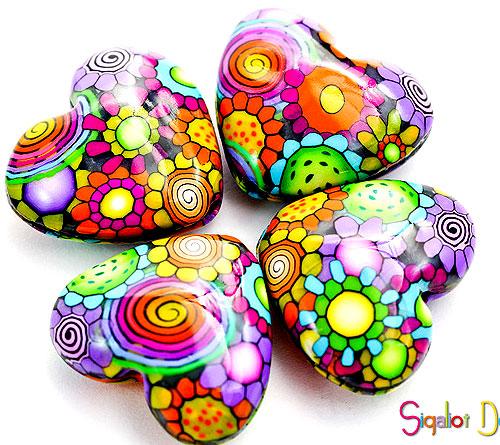 Сердечки из полимерной глины