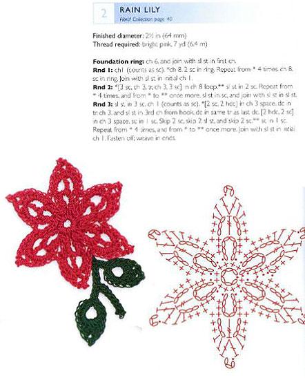 Вязание крючком - цветок лилия